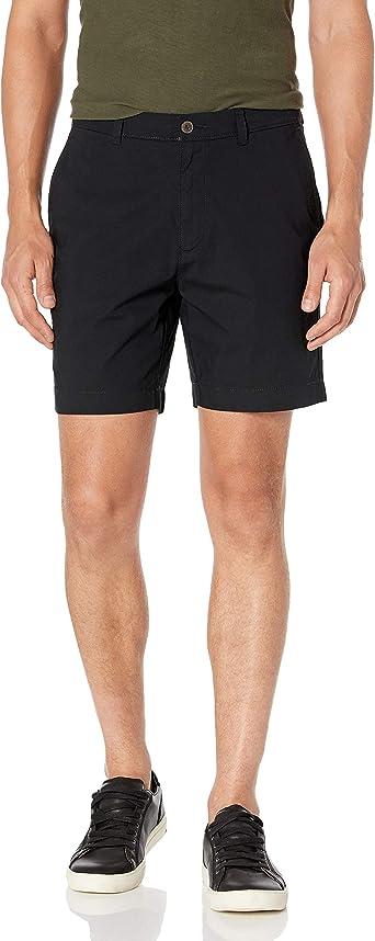 Essentials Mens Standard Slim-fit Lightweight Stretch 7 Short
