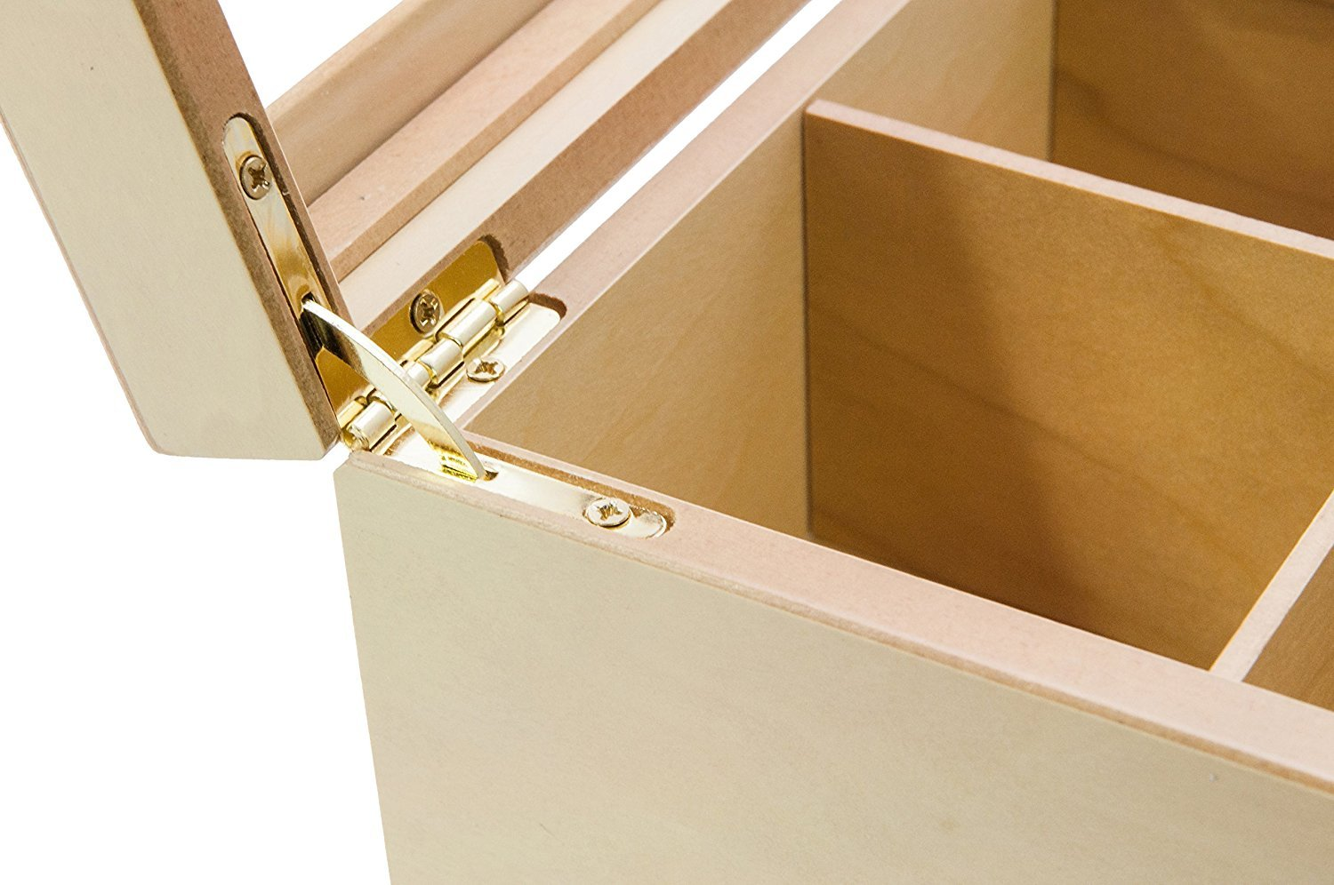 The Bamboo Leaf Luxury Wooden Tea BoxStorage Chest, 8 Compartments w/Glass Window (Natural) by The Bamboo Leaf (Image #4)