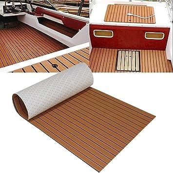 Almohadilla Antideslizante para Suelo de Barco de Espuma EVA de imitaci/ón de Teca Marina GOTOTOP para Yates