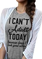 Women's Loose Casual Short Sleeve Street Letters Print Tops Funny T Shirt Tees