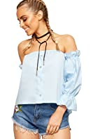 WEARALL Womens Cold Off Shoulder Gypsy Boho Crop Top Ladies Bardot Neck Plain New 8-14
