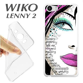J397 WIKO LENNY 2 CARCASA FUNDA TPU CHICA COMIC SEXO: Amazon ...