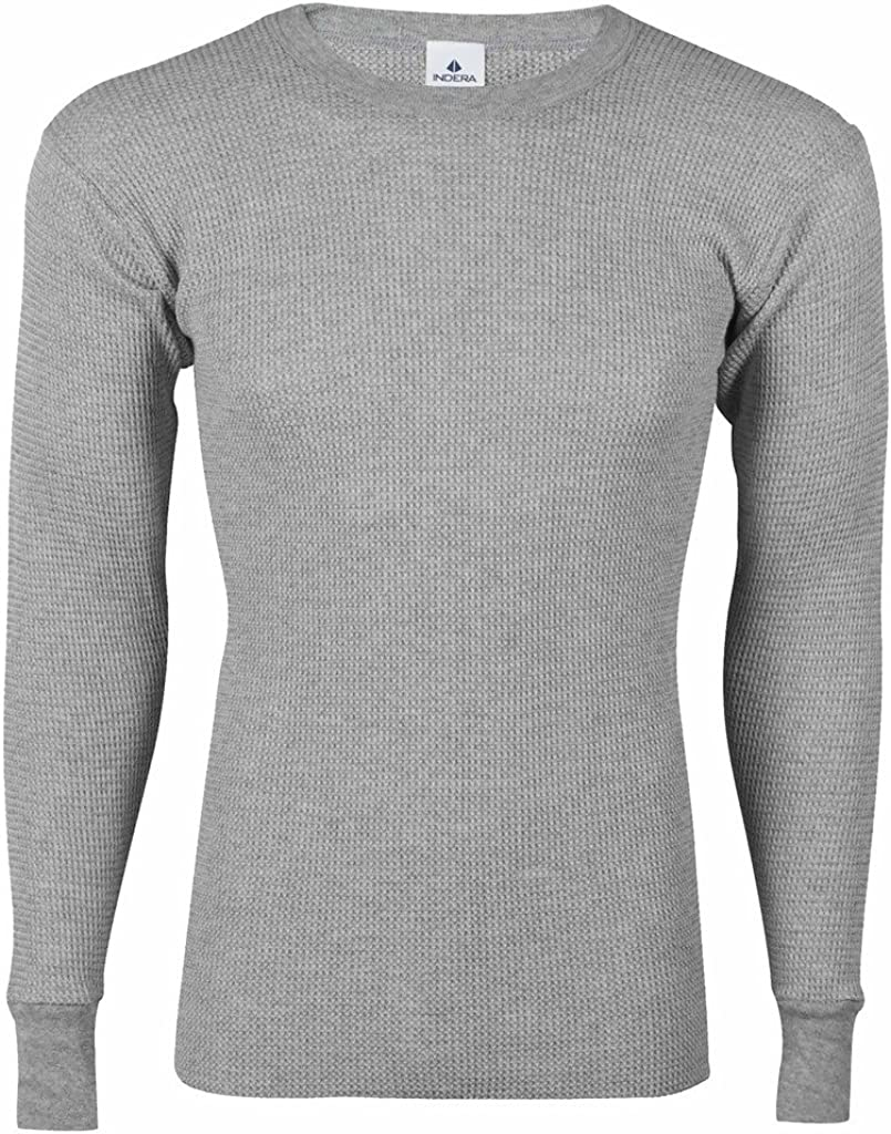 Indera Big Mens Thermal Underwear Crew Shirt Long Johns