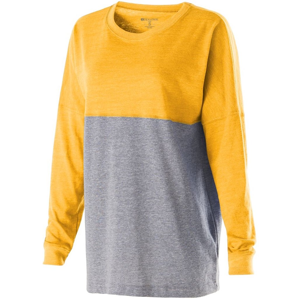 Holloway Juniors Low Key Pullover (Medium, Vintage Light Gold/Vintage Grey) by Holloway