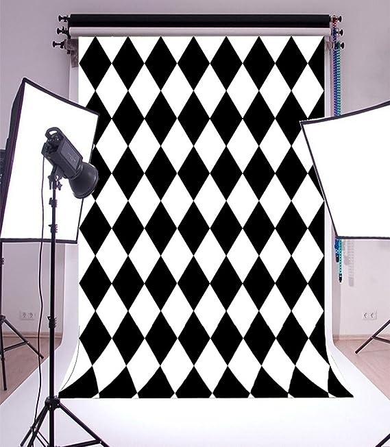 7x10 FT Burnt Orange Vinyl Photography Background Backdrops,Rhombuses in Bullseye Pattern with Herringbone Zigzag Stripes Background for Child Baby Shower Photo Studio Prop Photobooth Photoshoot