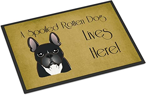Multicolor 24 x 36 Carolines Treasures BB1458JMAT Dalmatian Spoiled Dog Lives Here Indoor or Outdoor Mat
