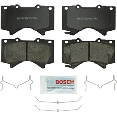 Bosch BP1303 QuietCast Premium Semi-Metallic Disc Brake Pad Set For Lexus: 2008-2020 LX570; Toyota: 2008-2020 Land Cruiser, 2008-2020 Sequoia, 2007-2020 Tundra; Front: Automotive