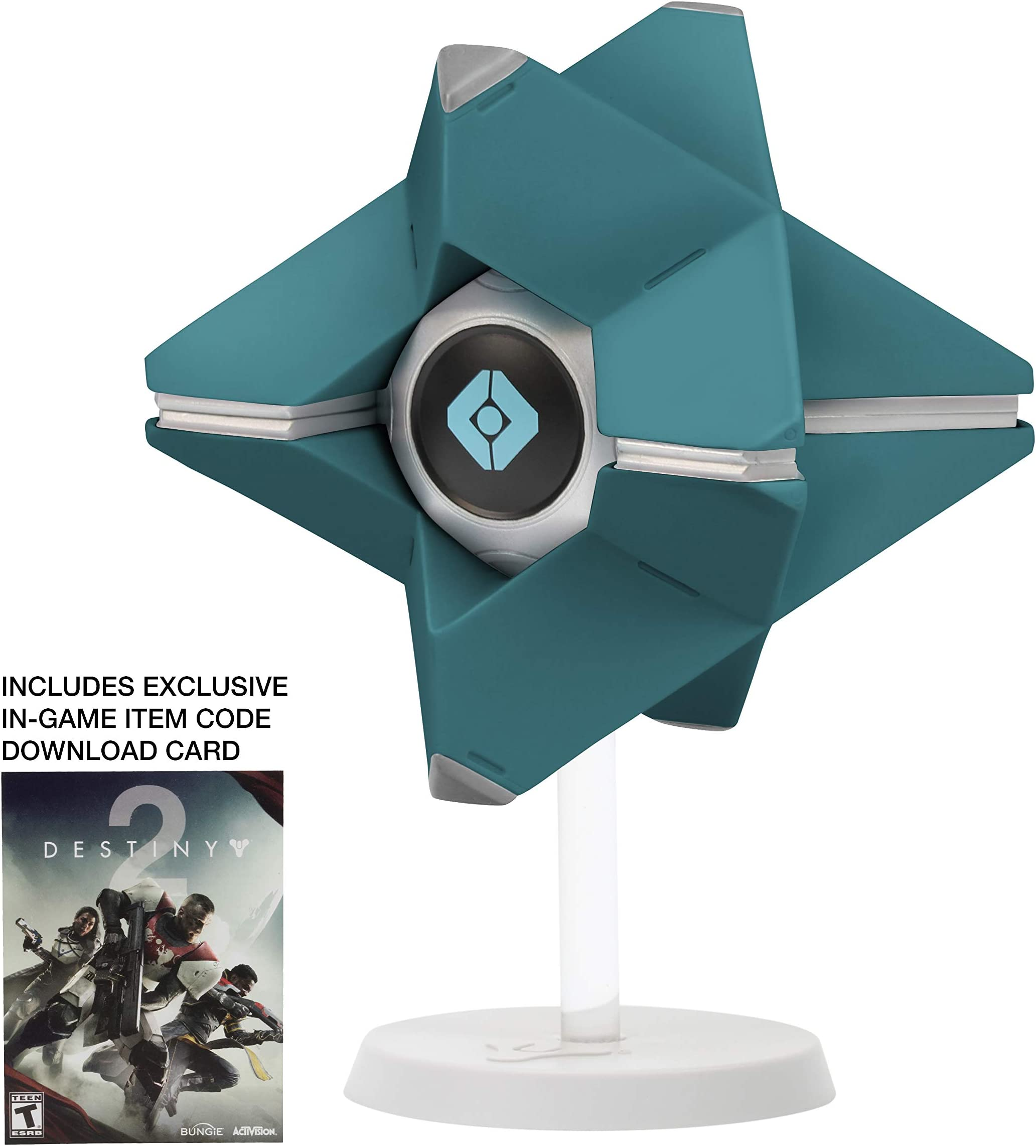 """Emblem Included Destiny Video Game LAST CITY SHELL Ghost Vinyl 7.25/"""" Figure"""