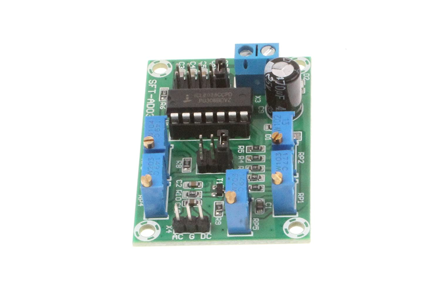 Noyito Icl8038 Signal Generator Module Medium Low Frequency Source Function Circuit Using Gadgetronicx Sine Wave Triangle Square Triple Waveform