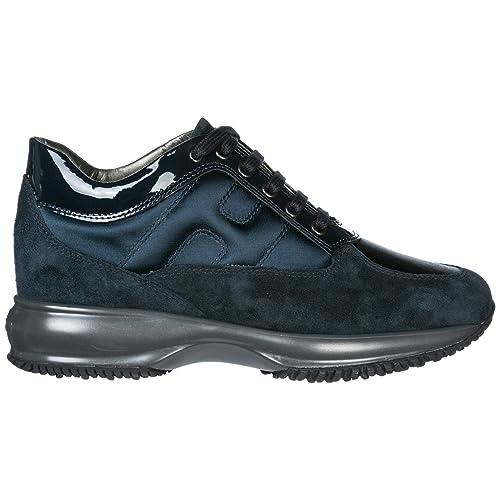 Hogan Interactive Zapatillas Deportivas Mujer BLU Notte: Amazon.es: Zapatos y complementos