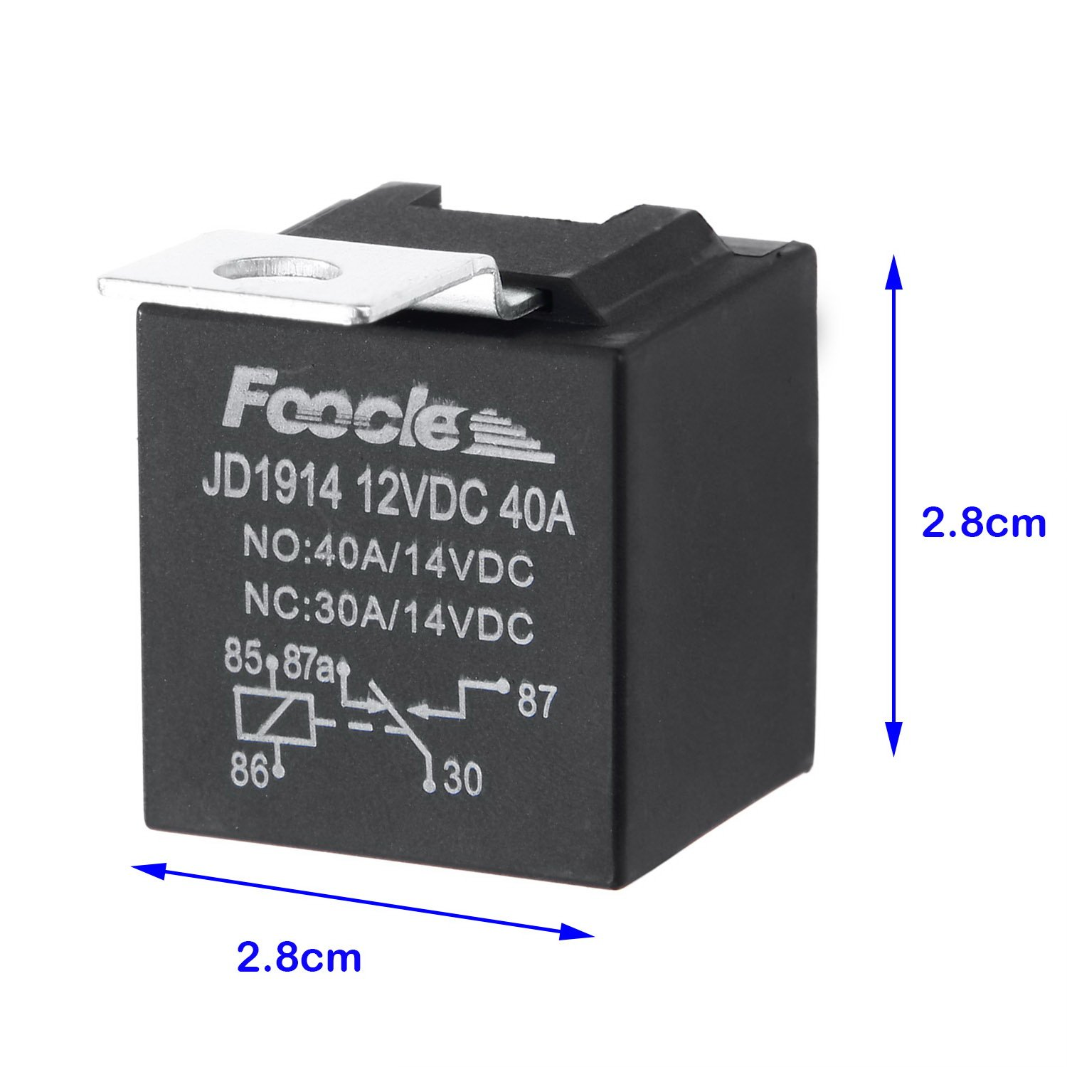 Fafada 5 Pcs Changeover Relay 12v Pin 30 40amp For Car Truck Van How To Make A Parallel Battery Charger Circuit Using Spdt Motorcycle Boat Motorbike