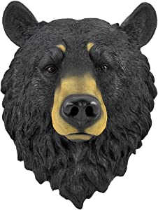Natural Looking Wall Hanging Big Black Bear Head
