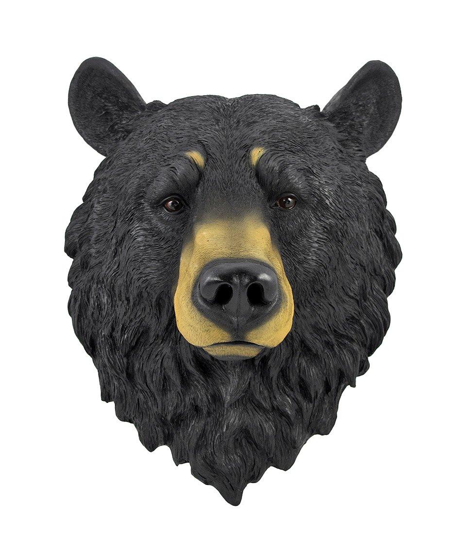 amazon com natural looking wall hanging big black bear head home