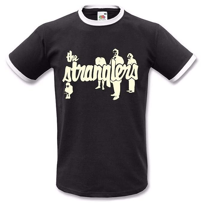 The Stranglers Retro Ringer T-shirt for Men, S to 3XL