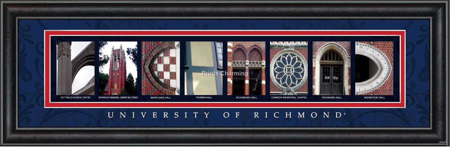 Prints Charming Letter Art Framed Print, U of Richmond-Richmond, Bold Color Border