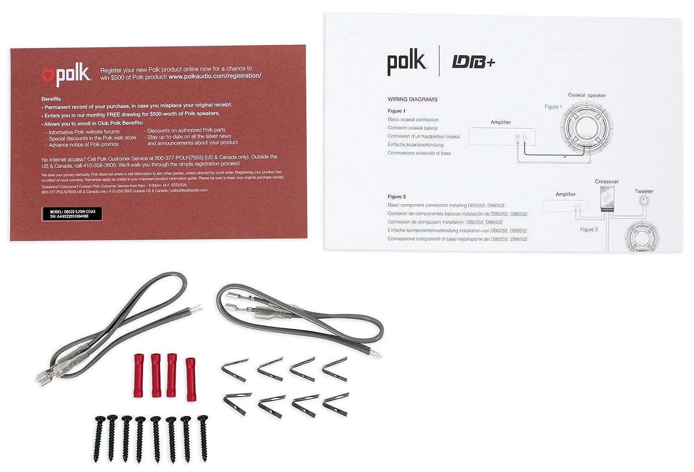 2 Polk Audio Db522 525 600w Car Marine Motorcycle Headphone Cable Wiring Diagram Speakers Headphones Sports Outdoors