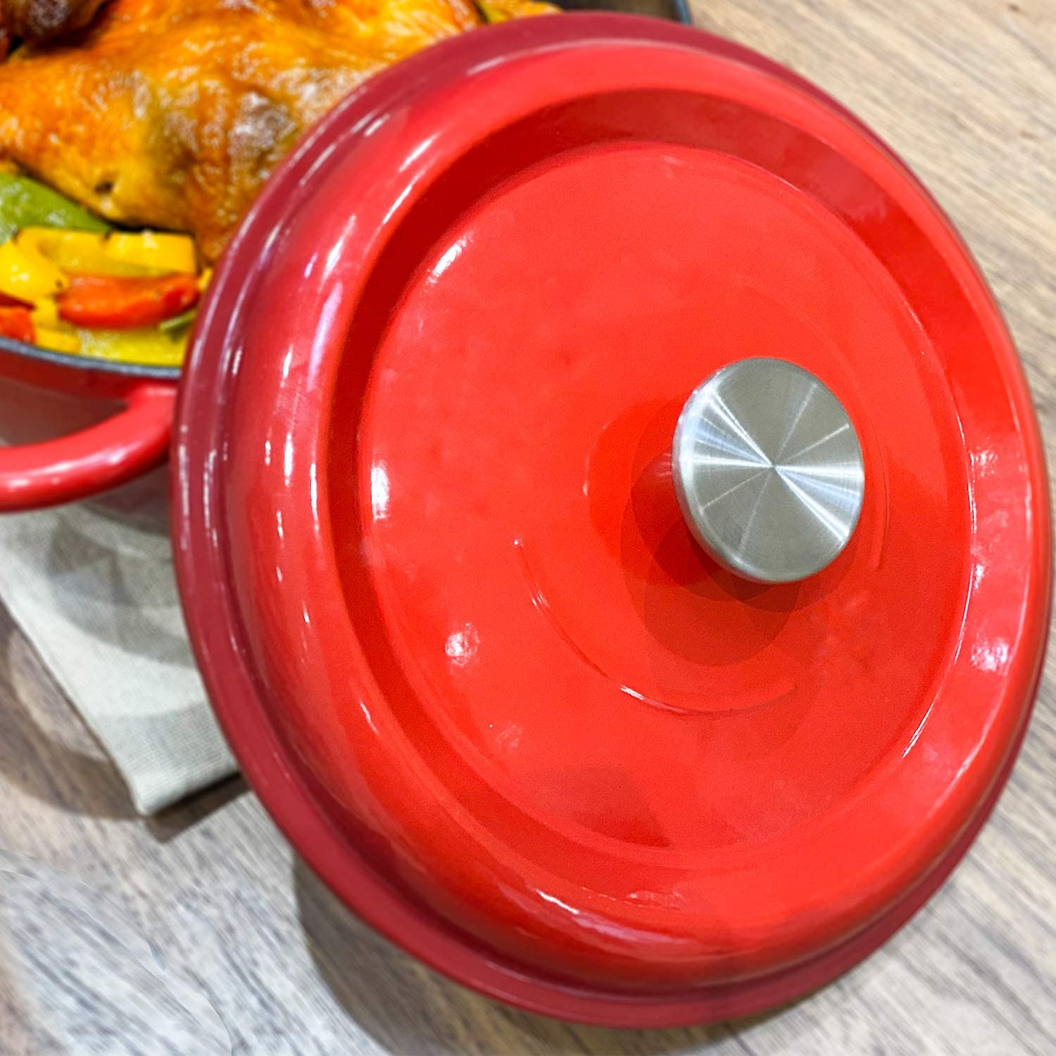 and Other Enameled Cast-Iron Dutch Oven Stainless Steel Replacement Handle for Le Creuset,Aldi,Lodge