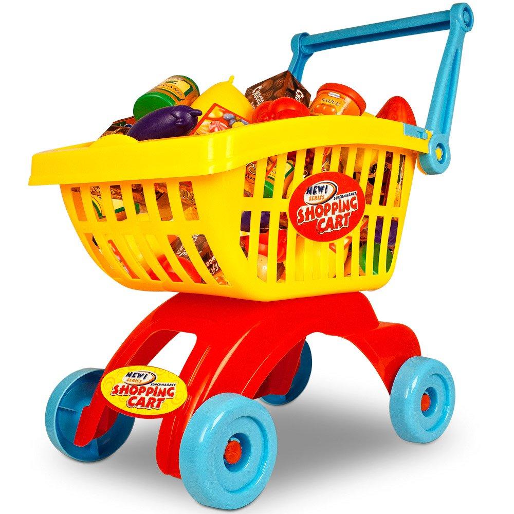Caddie pour enfants - Avec accessoires 32 pièces - Épicerie enfant Inconnu