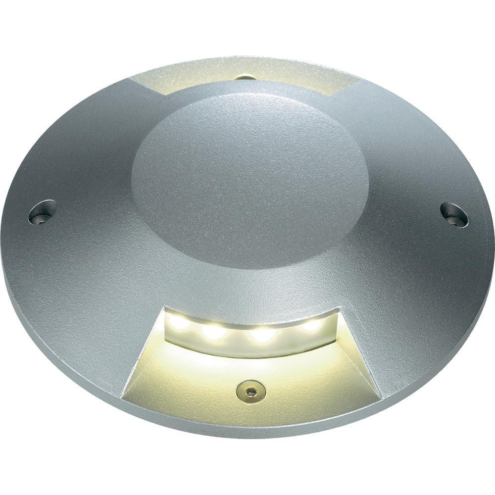 SLV Silver-grey 227372Big LED Plot Round Cover 2Slots
