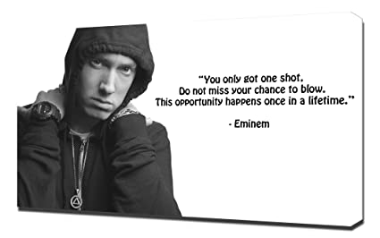 Pingoo Prints Eminem Quotes Lyrics Lose Yourself Canvas