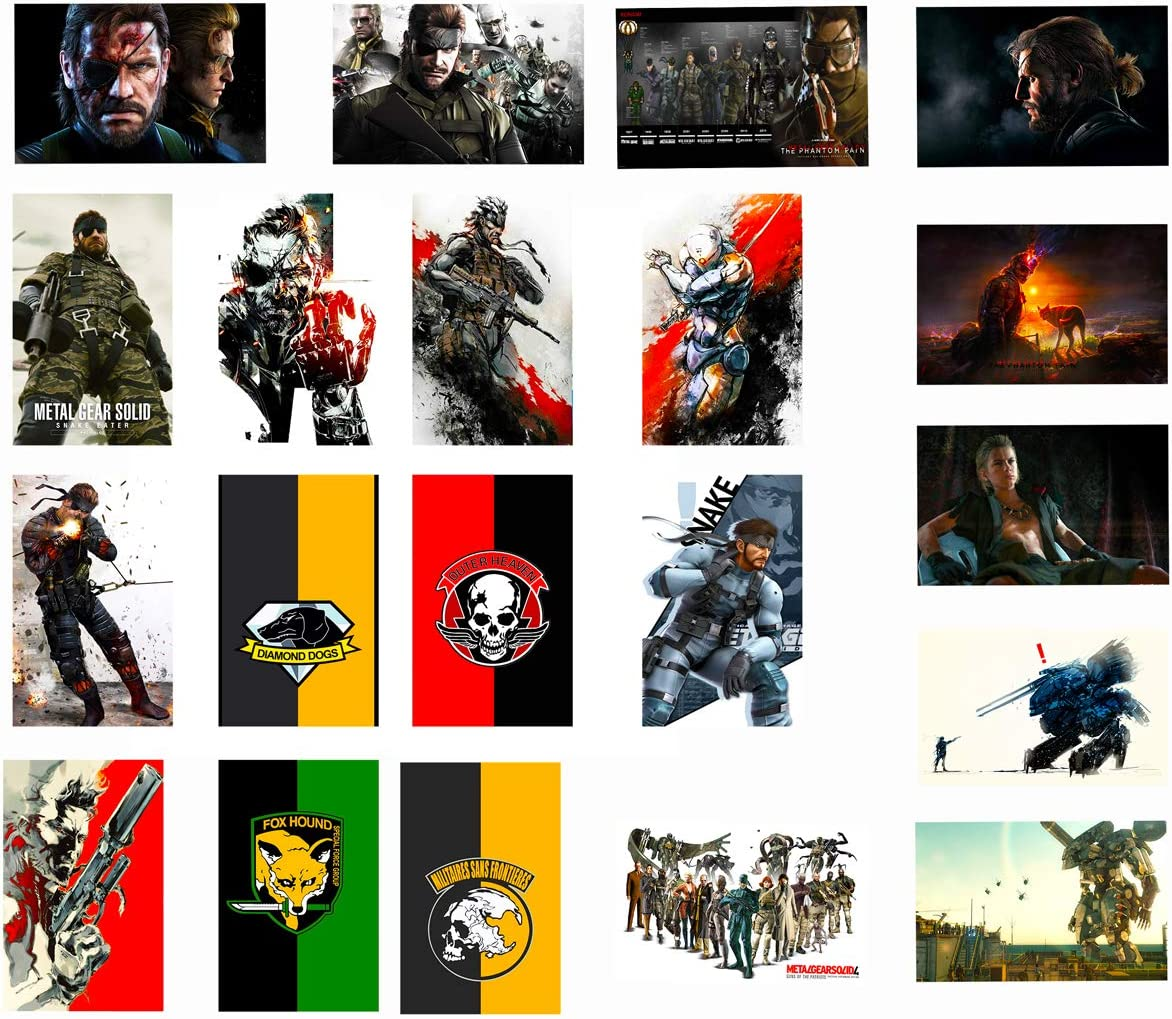 GTOTd Stickers for Metal Gear Solid 20Pcs, Sticker Decals of Vinyls for Laptop, Water Bottle, WindowGift, Teens, Cars, Collection, Skate Board etc.