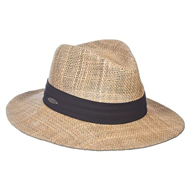 573a73a53862f9 Amazon.com: Panama Jack Dos Sombras Matte Seagrass Straw Safari Sun Hat  with 3-Pleat Ribbon Band: Clothing