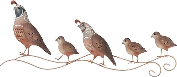 Regal Art & Gift Quail Family Wall Decor, Brown