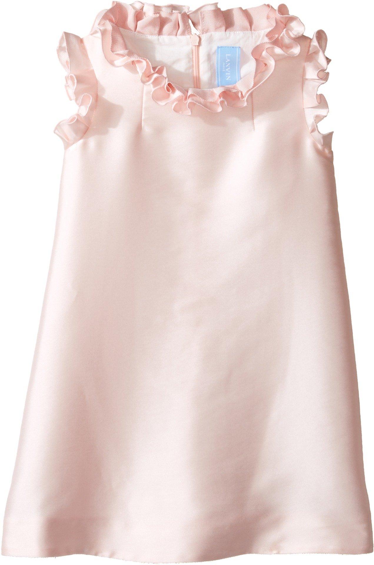 Lanvin Kids Baby Girl's Dress w/Ruffle Collar & Sleeve Detail (Toddler/Little Kids) Pink 4