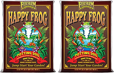 2 cu ft American Ver. with Bat Guano /& Microbes Fox Farm Happy Frog Potting Soil