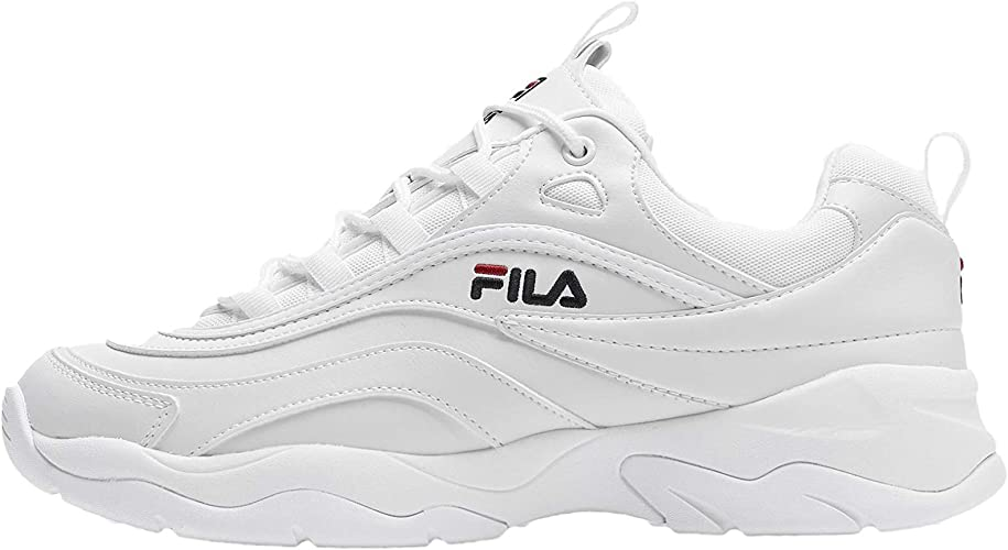 Chaussures de sport : Fila Homme Blanc Ray Low 1010561 1FG