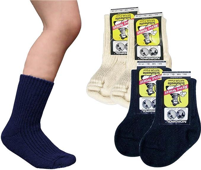 4 pares de calcetines de lana de oveja niños Polo 100% pura lana virgen: Amazon.es: Ropa y accesorios