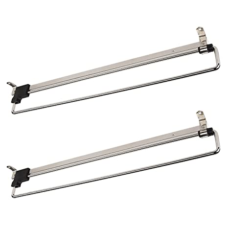 2 x SO-Tech® Percha Soporte Colgador Extraíble Perchero Telescópico para Armario 400 mm
