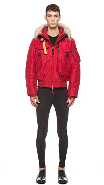Warm Parajumpers Men's Gobi Bomber Jacket (Medium, Red)