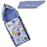 Fun Baby (FB-6003A) 3 in 1 Multi Usage Baby Cotton Bed Cum Sleeping Bag, Carry Bag, Safety Bag, Baby Wrapper, Baby Carrier, Nest Bag 0-6 Months 66CM x 45 cm with high Cushioning