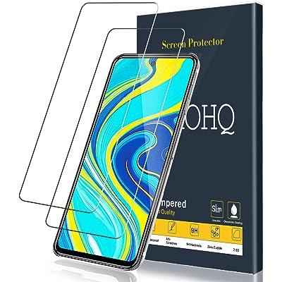 QHOHQ Protector de Pantalla para Xiaomi Redmi Note 9S/Redmi Note 9 Pro Cristal Templado,[2 Piezas] [Dureza 9H] Sin Burbujas Anti-Arañazos Vidrio Templado