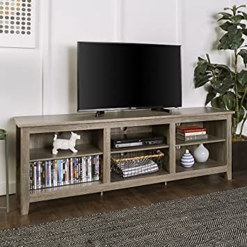 Amazon Com New 70 Inch Wide Driftwood Finish Television Stand