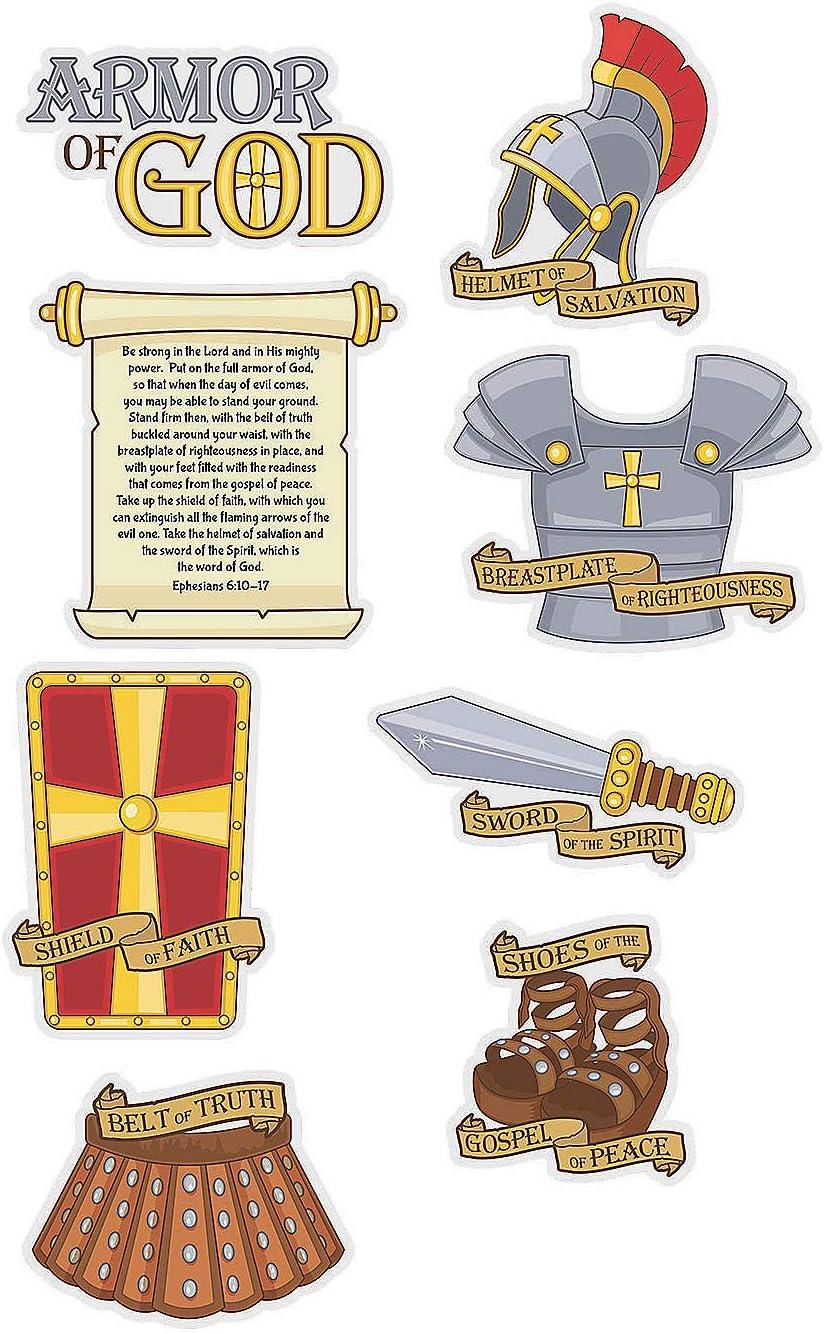 Party Decor Fun Express Cutouts Wall Decor 6 Pieces Armor Of God Cutouts