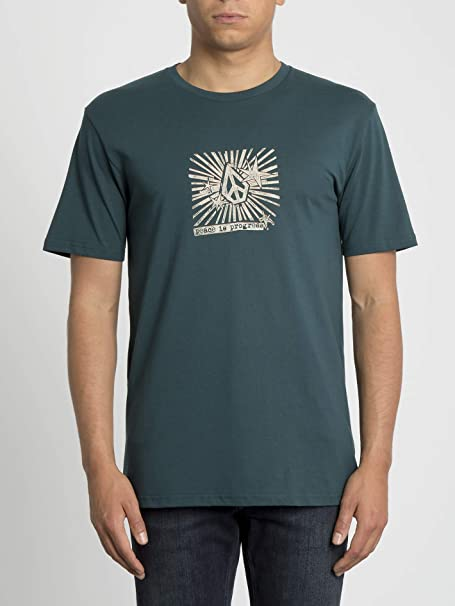 Volcom - Camiseta Prog Basic Mangas Cortas - Camiseta Hombre - Verde: Amazon.es: Ropa y accesorios