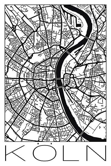 368cccfe2b5f45 Artland Qualitätsbilder I Wandbilder Selbstklebende Wandfolie Städte  Deutschland Köln Digitale Kunst Schwarz Weiß E2ON Retro