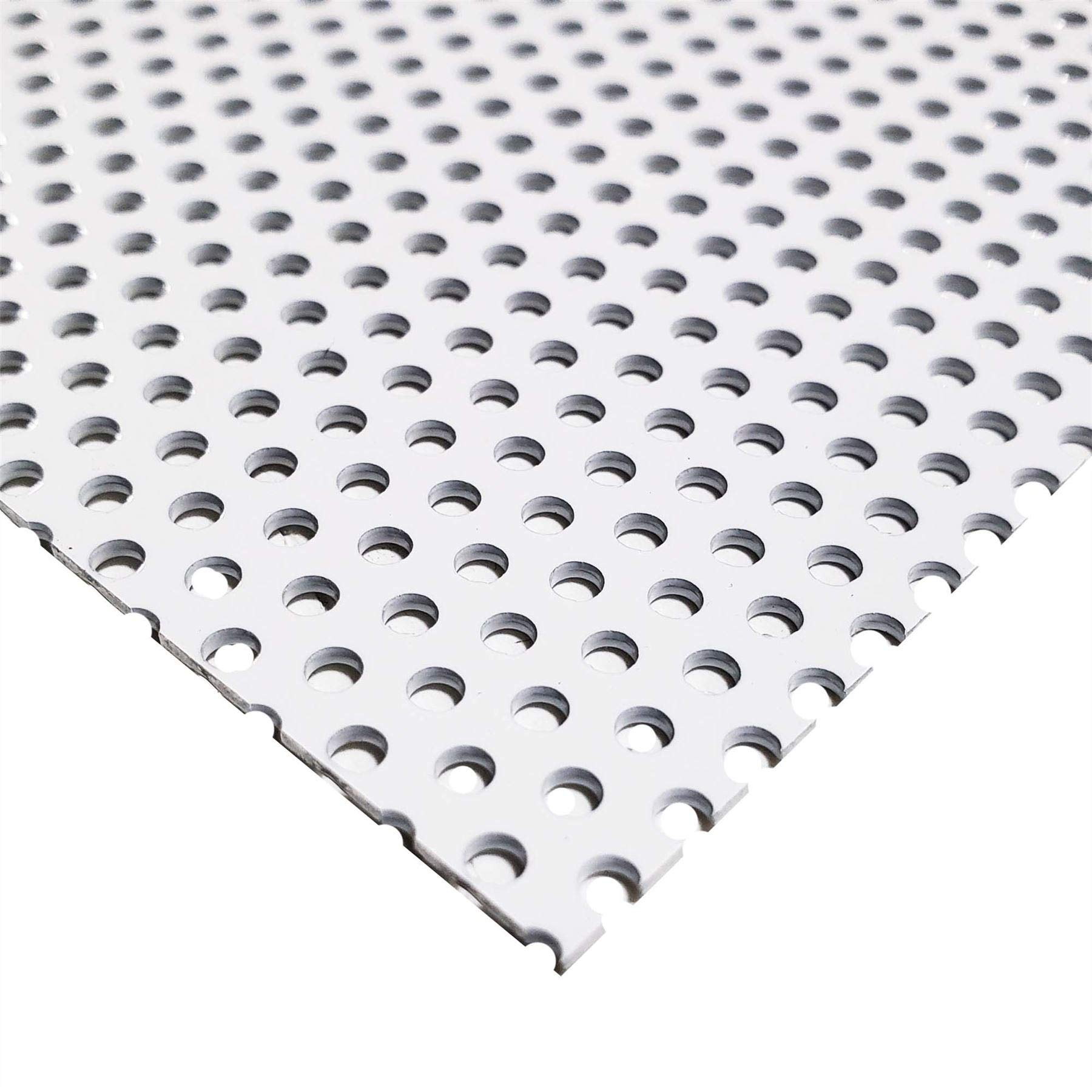 Online Metal Supply White Painted Aluminum Perforated Sheet, 0.040'' x 24'' x 48'' (0.100'' Hole, 0.188'' Center) by Online Metal Supply