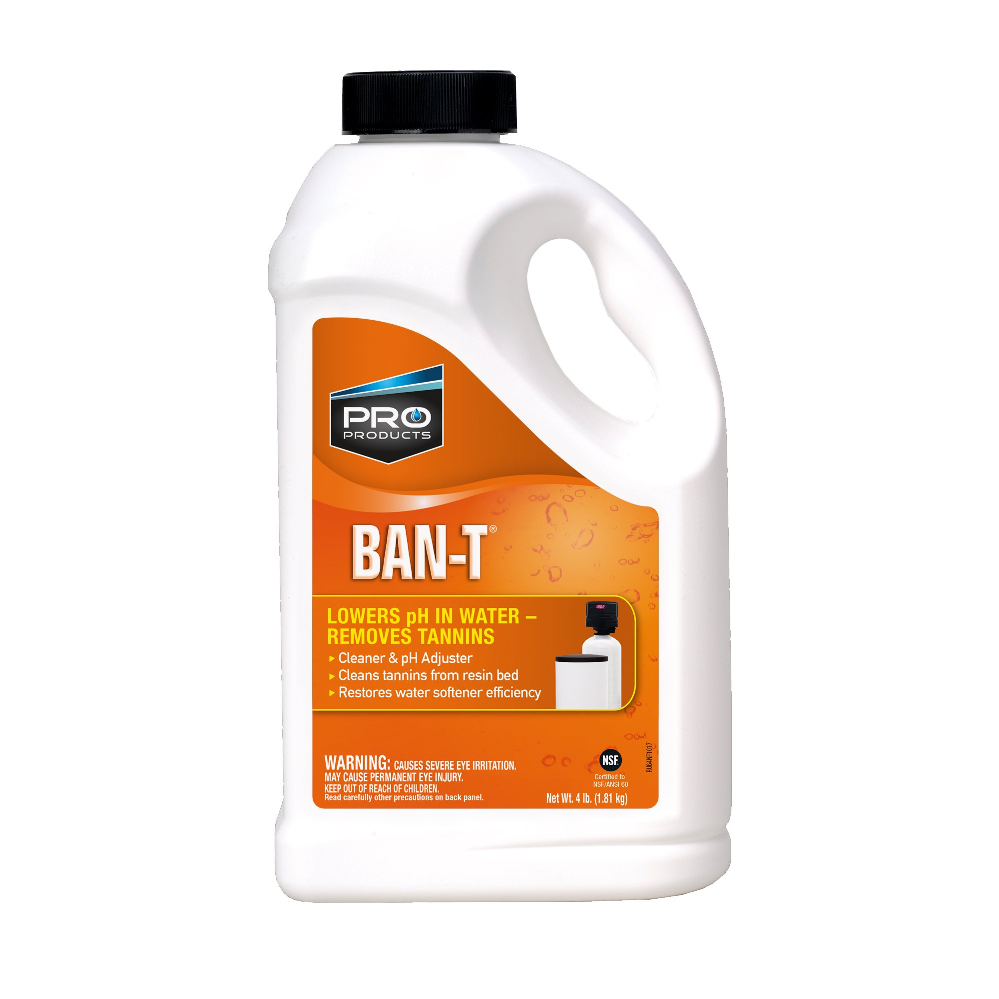 Pro Products Ban-T RU64N Resin Cleaner and PH Adjustment, Environmentally Friendly, 4 Pounds