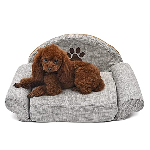 Amazon.com : WEEKEND SHOP Dog Bed cat Bed Removable Dog Bed Four Seasons Gray Dog Sofa Dog Cat House Washable Pet Cushion for Pet Bed Animals Pet Products ...