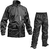マック 耐久防水レインスーツ セブンポイント ブラック 4L AS-5800