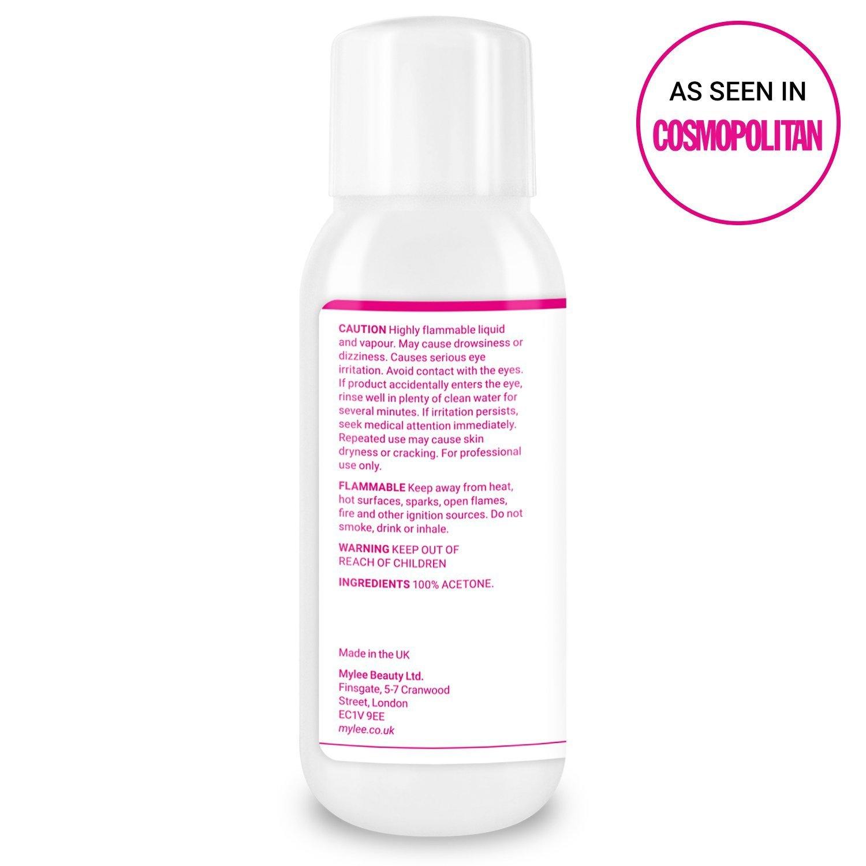 Mylee 100% Acetona Pura de 300ml Removedor de Esmalte de Uñas en Gel UV / LED de Calidad Superior: Amazon.es: Belleza