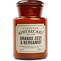 Paddywax Candles Apothecary Collection Scented Candle, 8-Ounce, Orange Zest & Bergamot