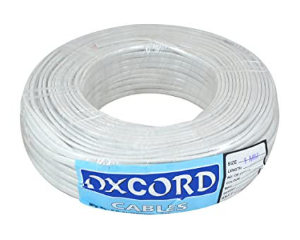 OXCORD Twin Flat 2 Core Copper Wires and Cables 1mm for Electric Connections Single Phase Electric Connections Up to 1100V