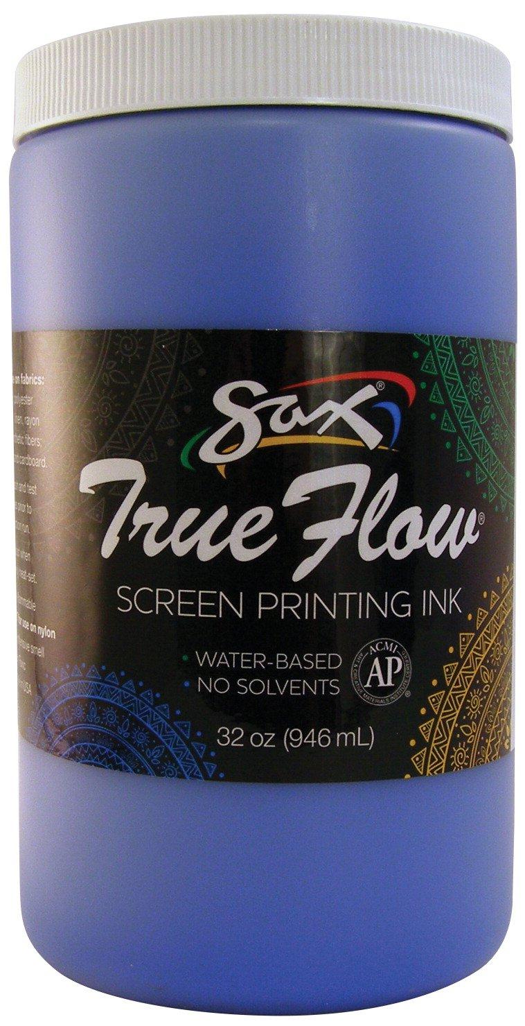 Sax 1441642 True Flow Non-Flammable Screen Printing Ink, 1-Quart, Blue