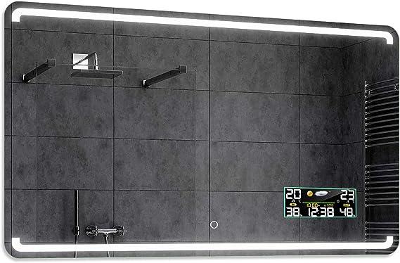 Alasta® Premium Espejo de Baño Moderno e Iluminado - 100x200 cm ...