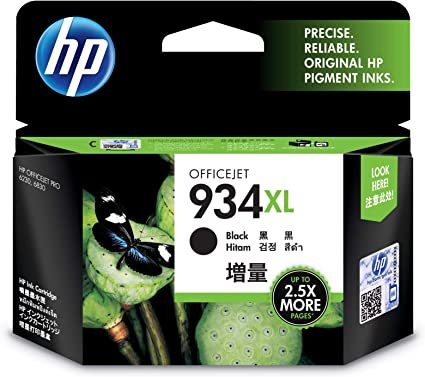 HP Genuine 934XL Black  2 Packs of Ink Cartridges in OEM Boxes Fast Shipping