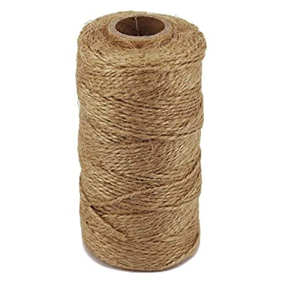 TIAMALL 300 Feet Natural Jute Twine Gift Twine String Packing String : Office Products